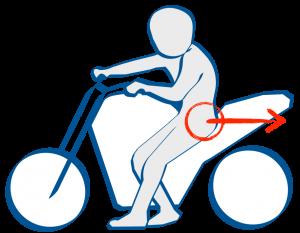 バイク取り回し後退