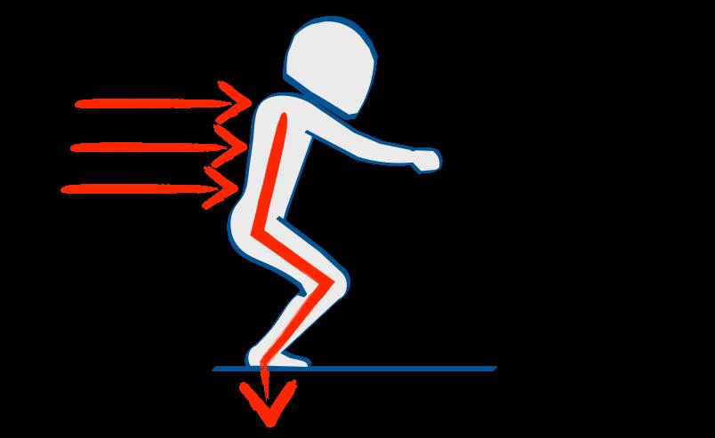 二輪教習、減速時の姿勢は空気イス