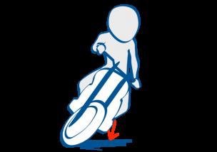 二輪教習スラロームはステップ加重