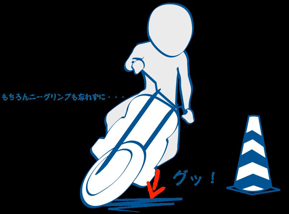 二輪教習スッロームはステップ加重
