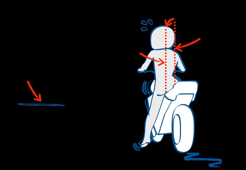 二輪教習スムーズな停止は足を早く出しすぎない