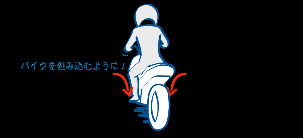 バイクで公道デビューニーグリップは大事