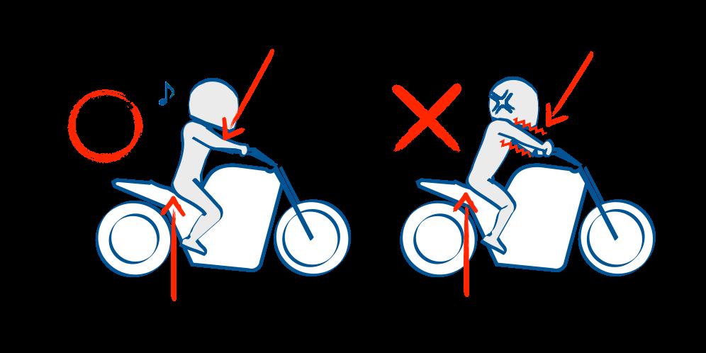 バイクで公道デビュー正しい着座位置
