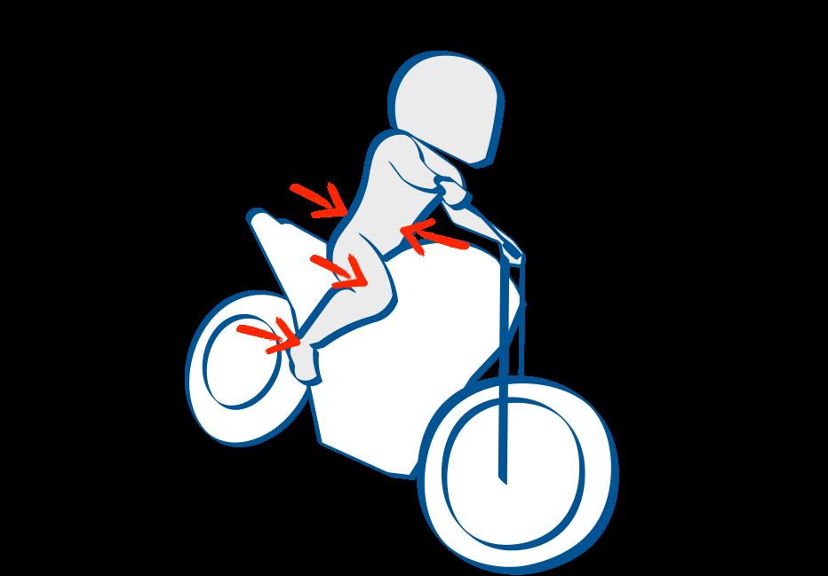 バイクで公道デビュー コーナーでもニーグリップで上半身を支える