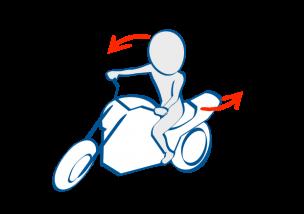 バイクで公道デビュー左折時は肩とハンドルを並行に