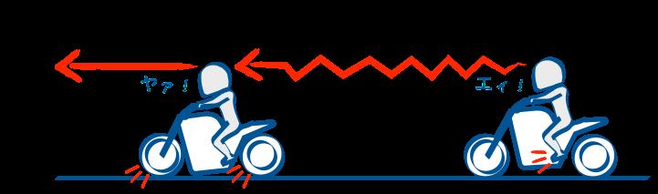 バイクで停止するときまずはエンジンブレーキ