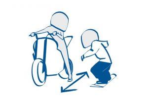 バイクとスノーボードは互いにたて長