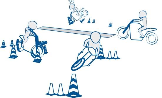 二輪教習の第1段階は基本を学ぶ