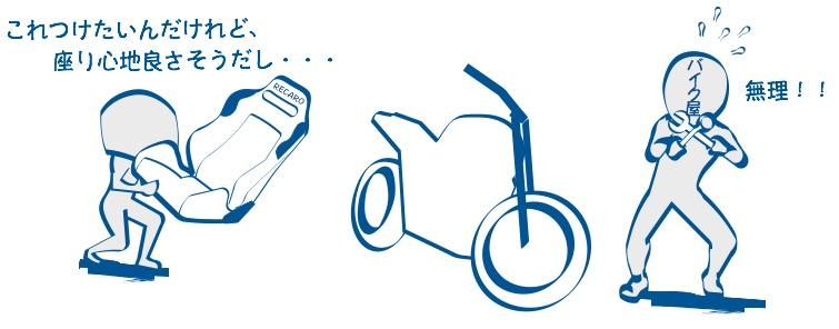 バイクショップで社外品を取り付け