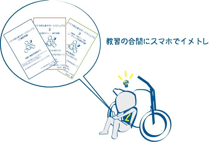 バイク初心者サポートマニュアルは絵が大事