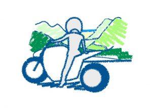 バイクは勇気の積み重ね