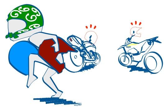 ヘルメットの盗難に注意