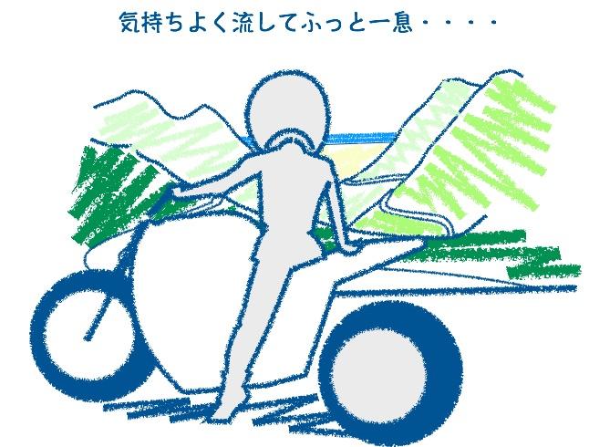 バイクの服装フル装備は楽