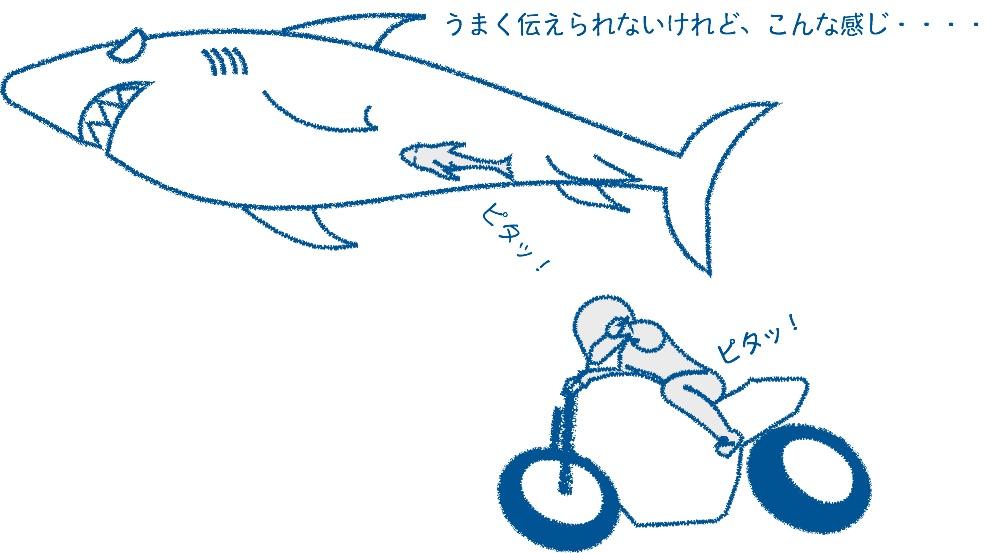 バイクの動きを邪魔しない
