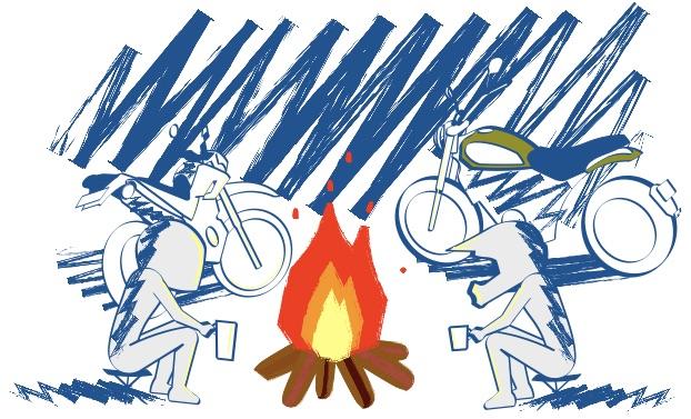 冬の焚き火は楽しい