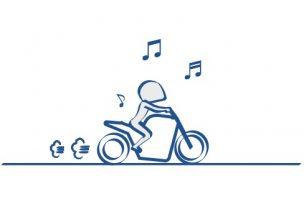 バイクで音楽
