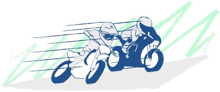 バイクの加速は楽しくてゾクゾク