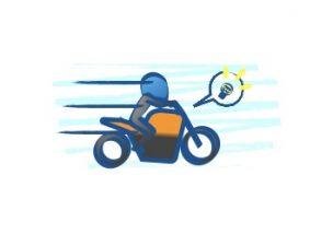 バイクの加速はアクセル開けてからシフトアップ
