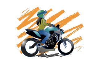 バイクはあなたの支えになる絵の図