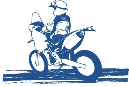 バイクはあなたの勇気を試せる絵の図