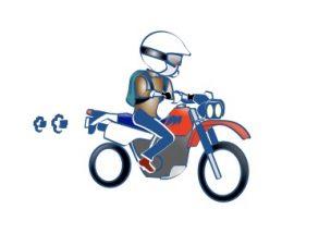 バイクバハに乗るの絵の図
