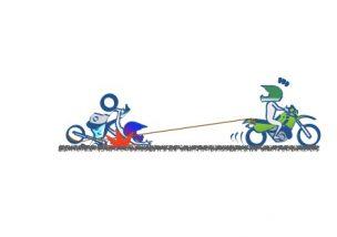 バイクは牽引し内容がいいの絵の図