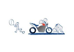 ヘルメットはバイクにかけない?