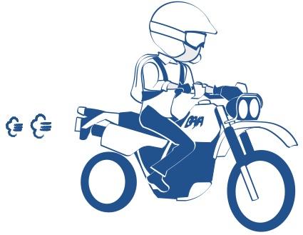 バハに乗るの絵の図