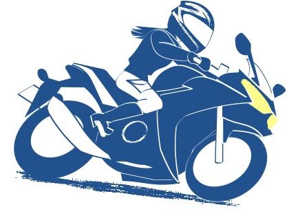 人それぞれのバイクライフの絵の図