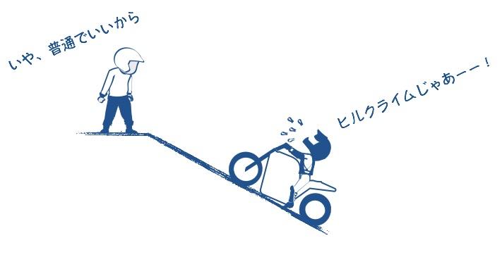 坂道発進はヒルクライムの絵の図