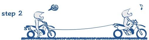 バイクを牽引する絵の図2