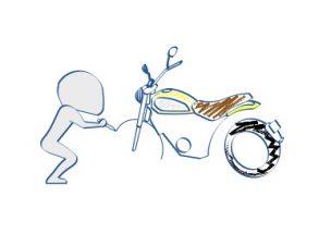 バイク+絵の図