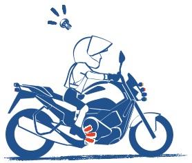 何回もくりかえせばバイクに乗れるようになる絵の図