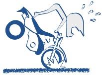 イラストならバイクのジャックナイフもかけるの絵の図