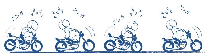 バイク初心者はブレーキが大変の絵の図