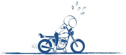 バイク初心者はヨチヨチの絵の図