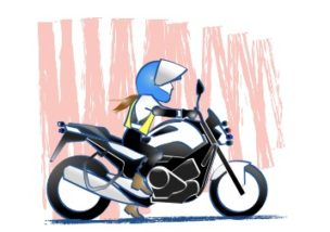 バイクのアクセルを開けるのがこわい