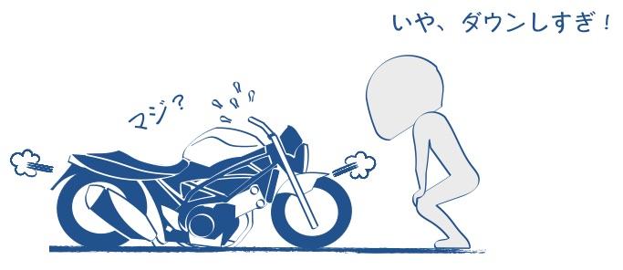 バイクsv650ローダウンの絵の図