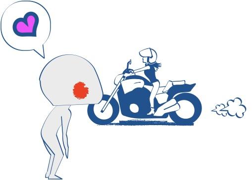 バイク乗りは小柄なバイク女子にあこがれる