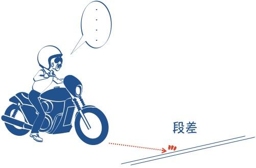 バイク初心者段差が怖いの図