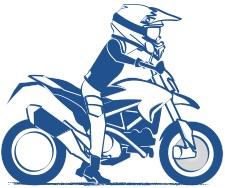 バイクの足つきは安心感の図