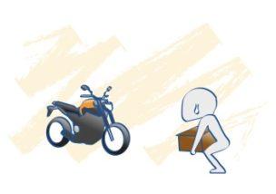 バイクの荷物のつみ方の図