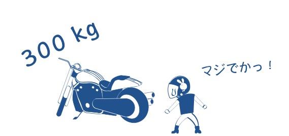納車の日にバイクのデカさを知る