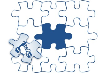バイクが好きというパズルのピースの図