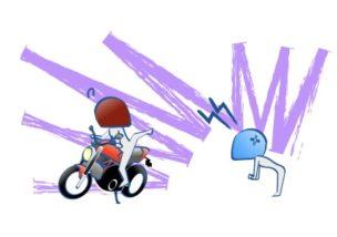 他人に自分のバイクを股がられるのは嫌の図
