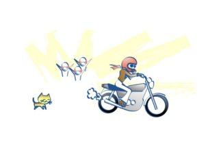 バイクはうれしたのしの図