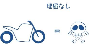 バイクイコール危ないという思考停止の図