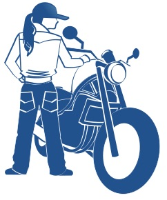 バイクに乗ろうの図