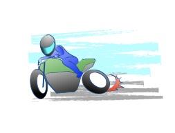 バイクで駐車場に入ると斜めになる
