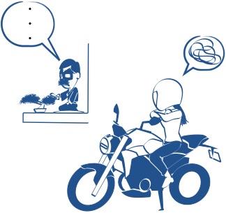 バイクにヤキモチ?